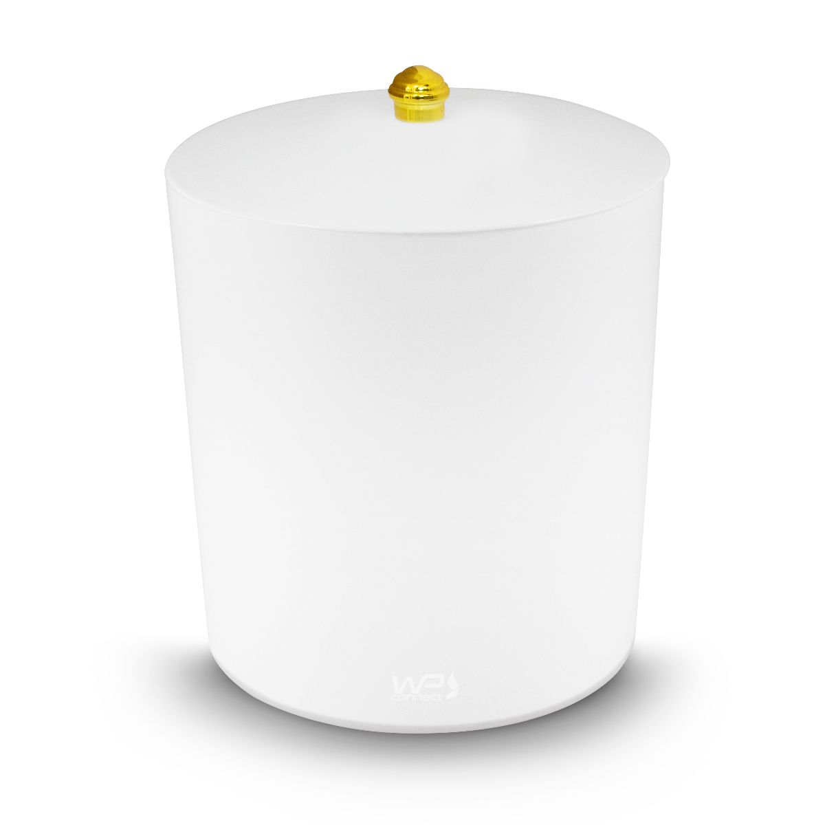 Lixeira Multiuso 5 Litros Puxador Dourado Banheiro