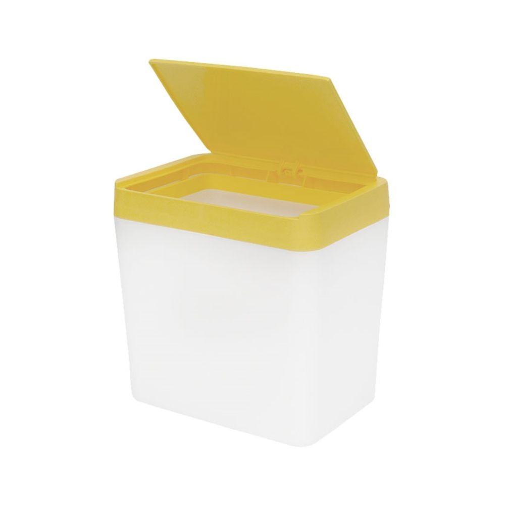 Lixeira Para Pia 5 Litros - Branco/Amarelo