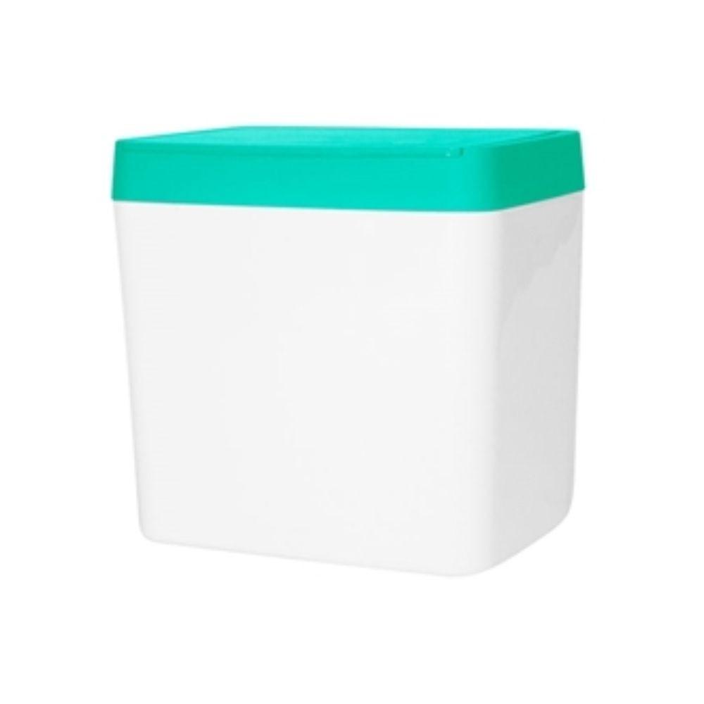 Lixeira Para Pia 5 Litros -  Branco/Esmeralda