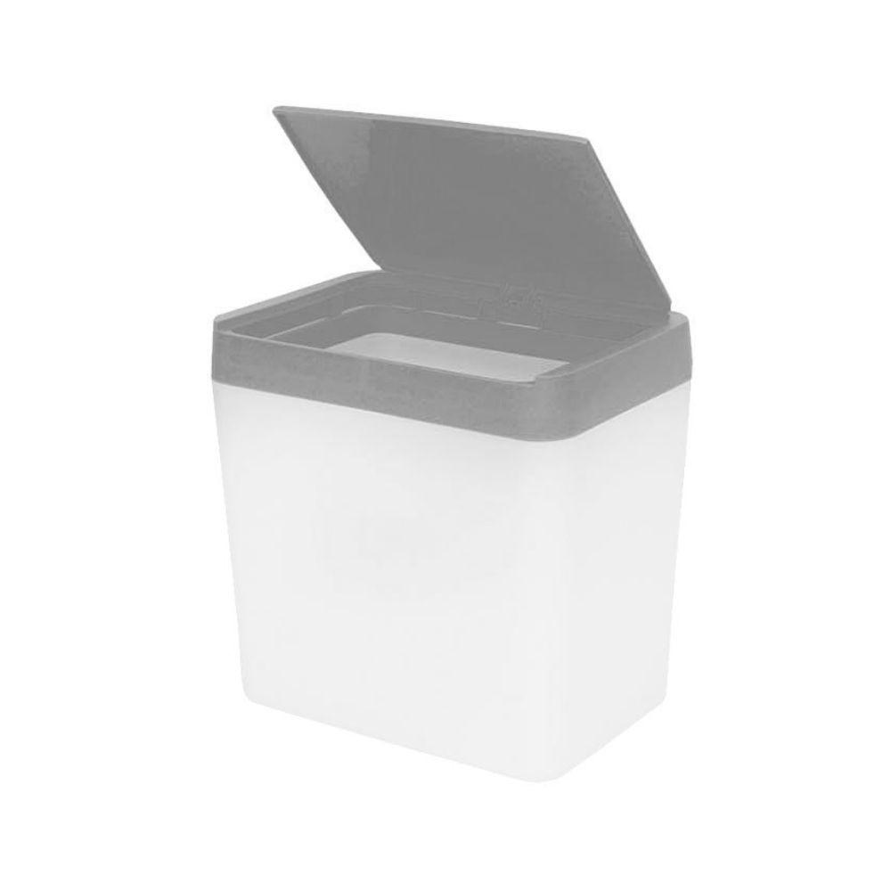 Lixeira Para Pia 5 Litros - Branco/Preto