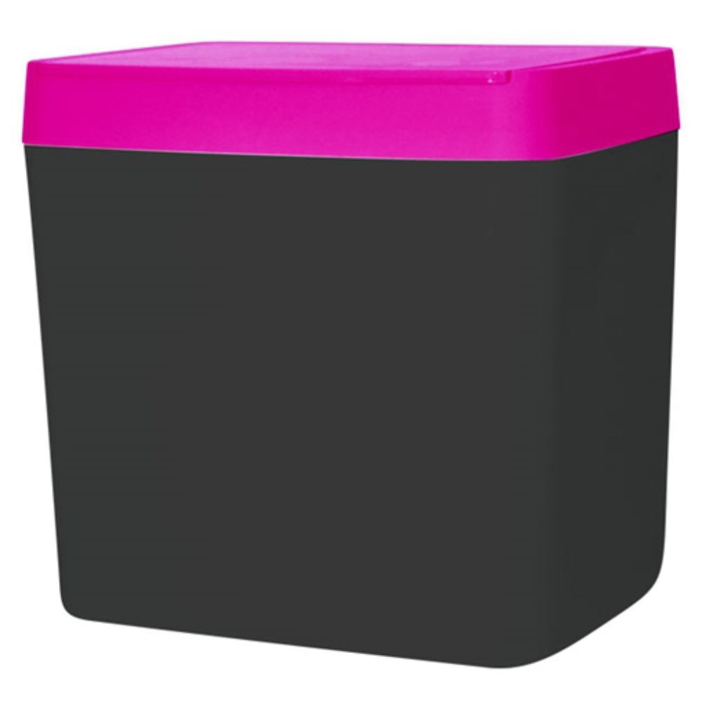 Lixeira Para Pia 5 Litros - Chumbo/Rosa