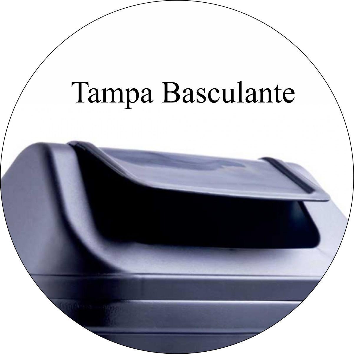 Lixeira Plástica 15 Litros Tampa Basculante Vai e Vem