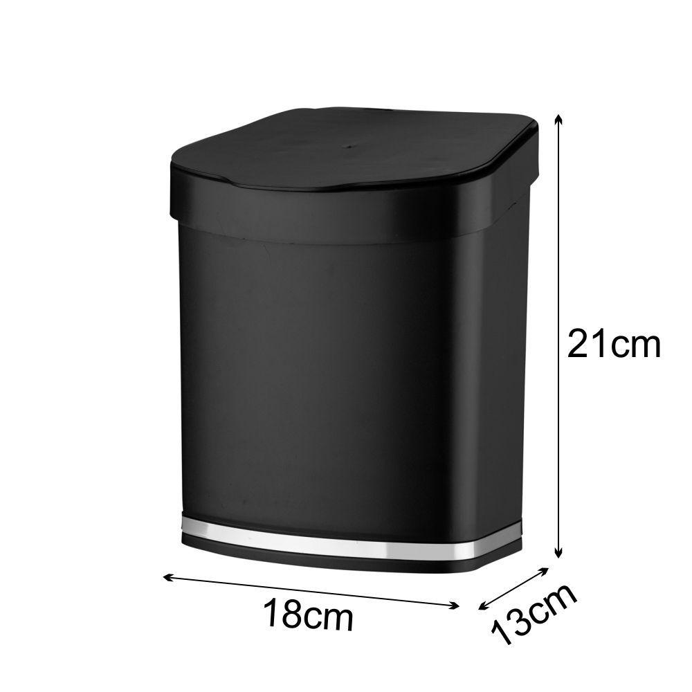 Lixeira Preta Para Cozinha + Dispenser Detergente Para Pia