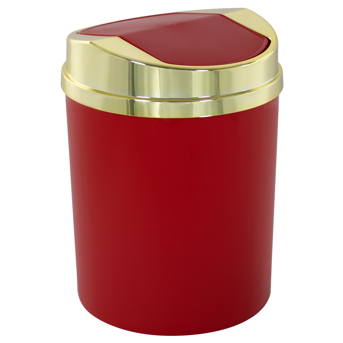 Lixeira Tampa Basculante Dourada 5 litros Cozinha Banheiro
