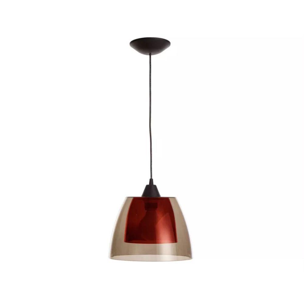 Luminária de Teto Miró Sala de Jantar/Estar - Fumê/Vermelho