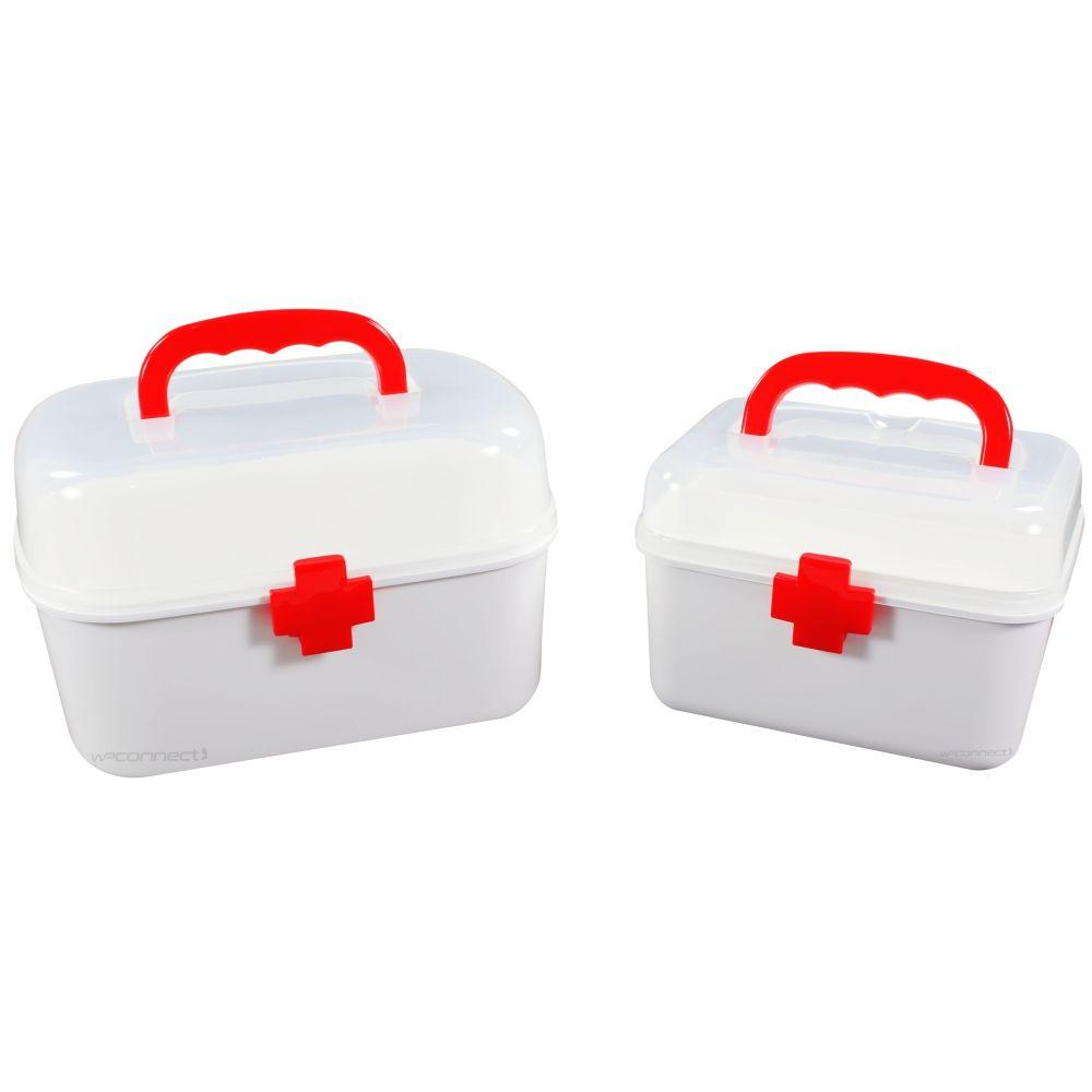 Maleta Caixa de Primeiros Socorros Medicamentos 2 Peças