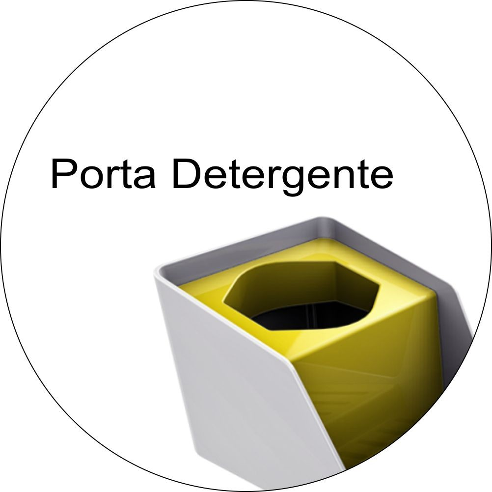 Organizador de Pia Porta Detergente e Esponja Branco/Amarelo