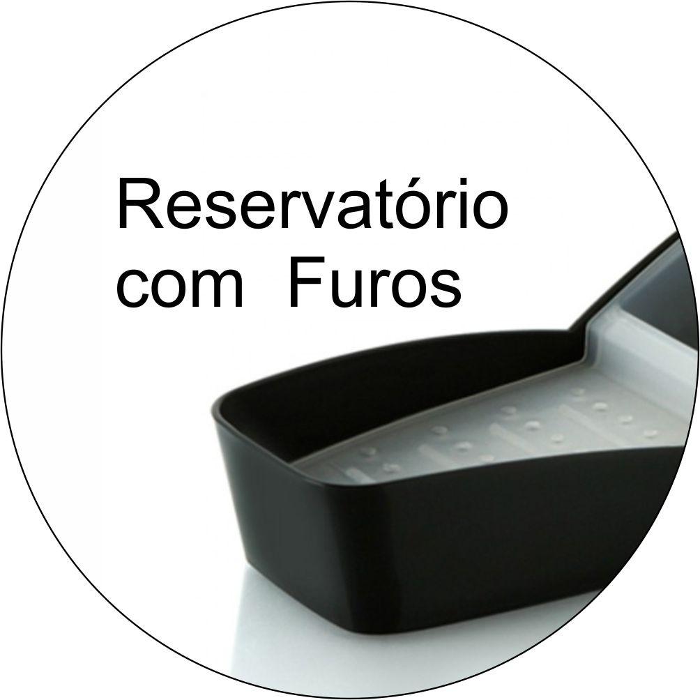 Organizador de Pia Detergente Sabão em  Barra e Esponja-Preto