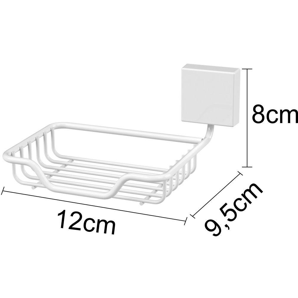 Organizadores Para Banheiro 5 Peças Fixação Parafuso Branco