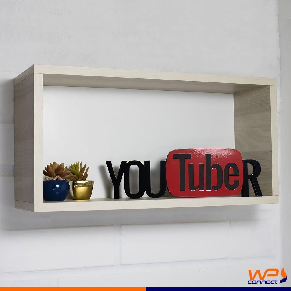 Adorno Palavra Decorativa Youtuber Videos Fotos em MDF