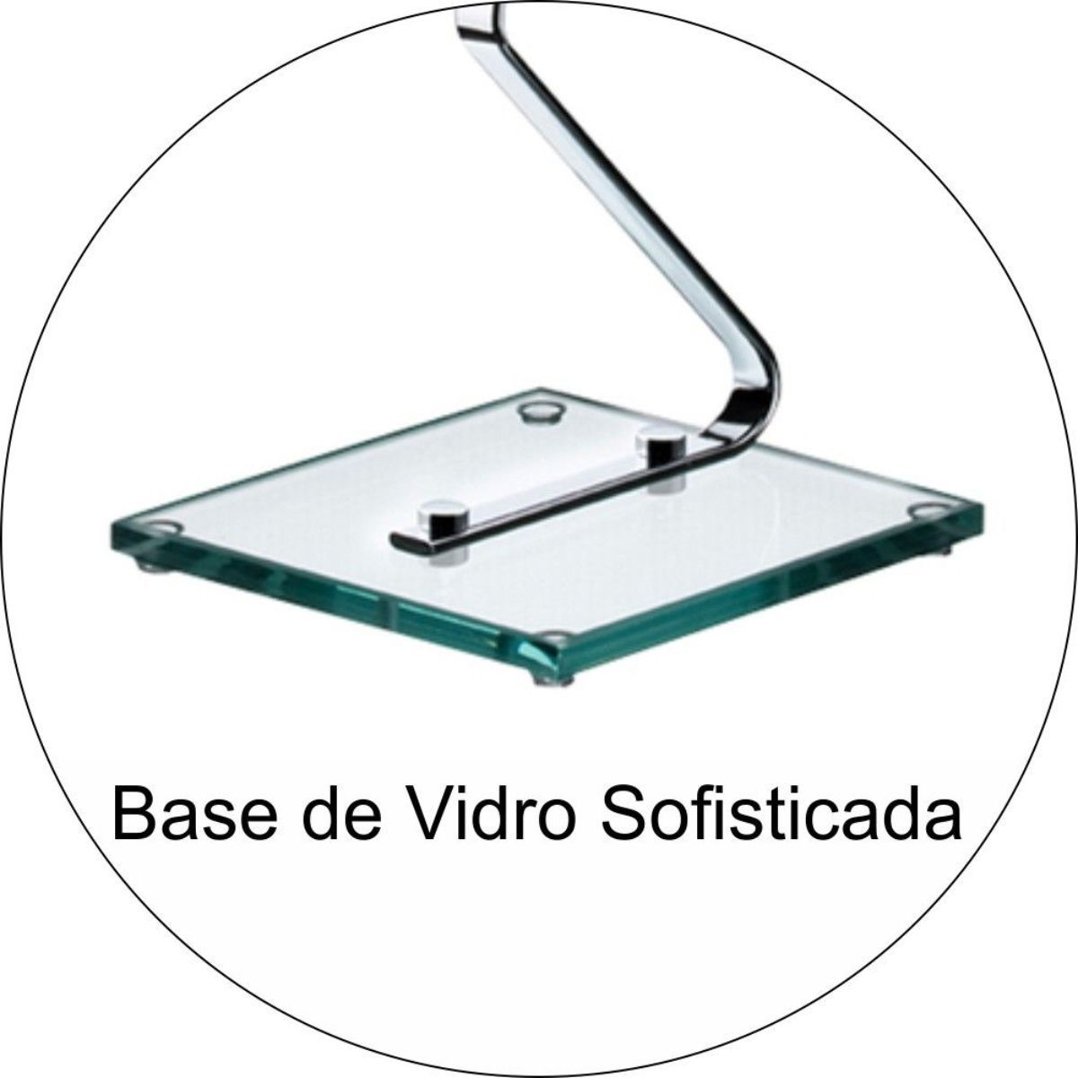 Papeleira de Chão Com Base de Vidro Toalheiro 30cm de Parede