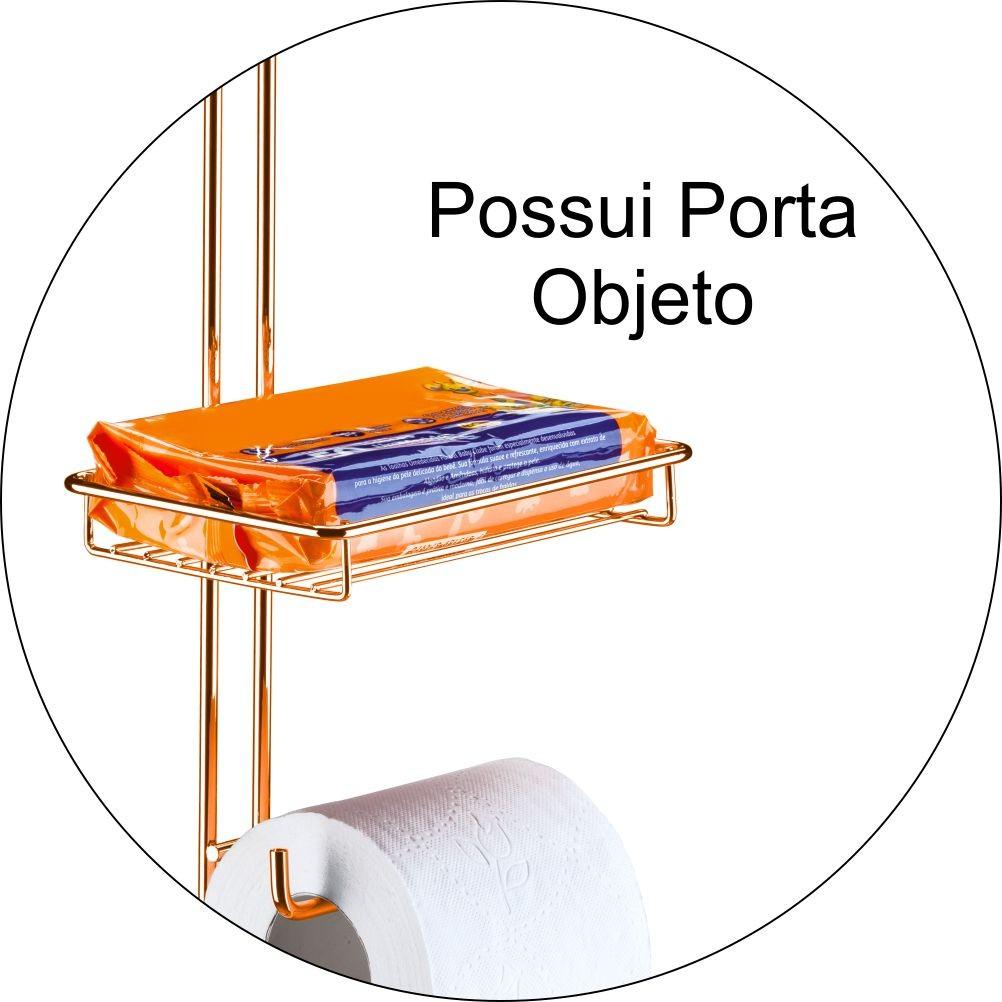 Papeleira Dupla de Chão Com Porta Objeto- Cobre