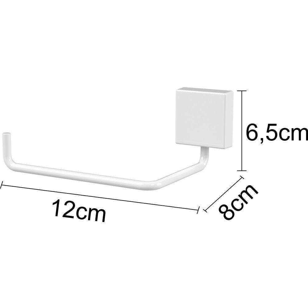 Papeleira e Saboneteira Com Fixação Por Parafuso Aço Branco
