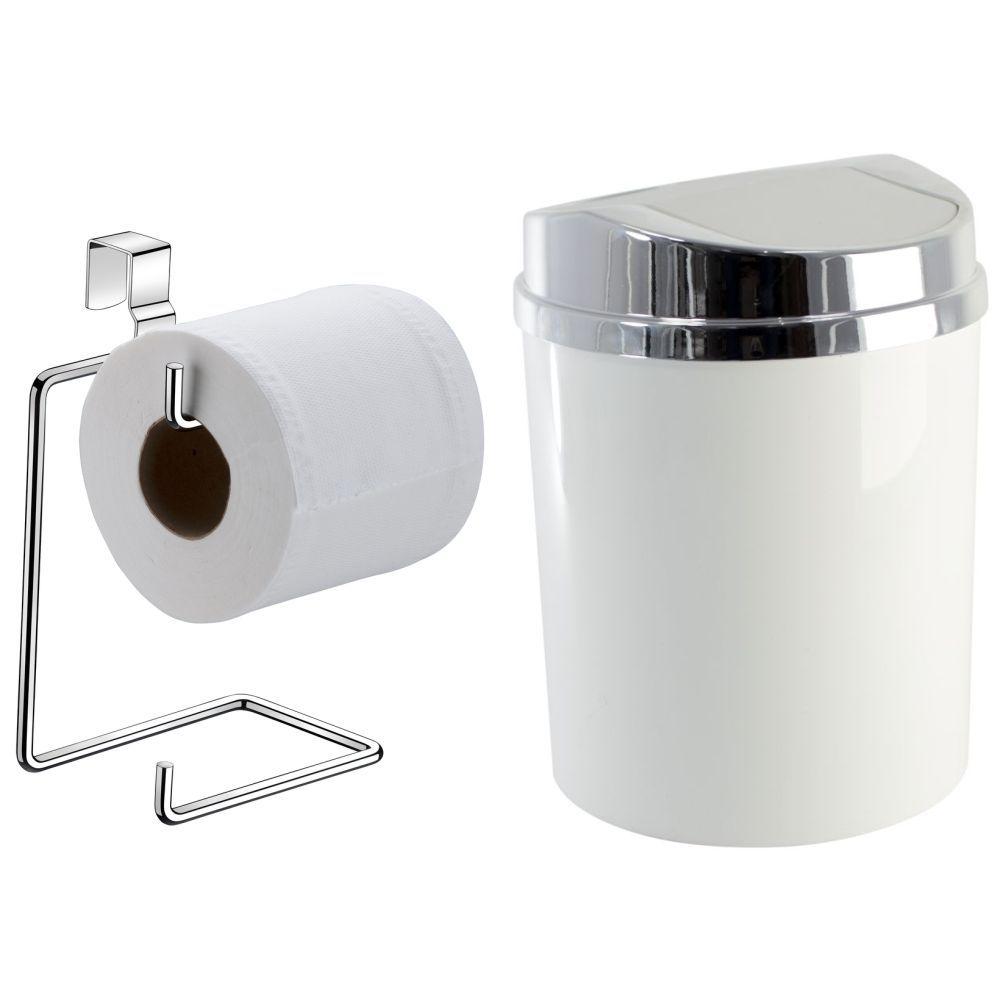 Papeleira P/ Caixa Acoplada Com Lixeira 5 Litros Banheiro