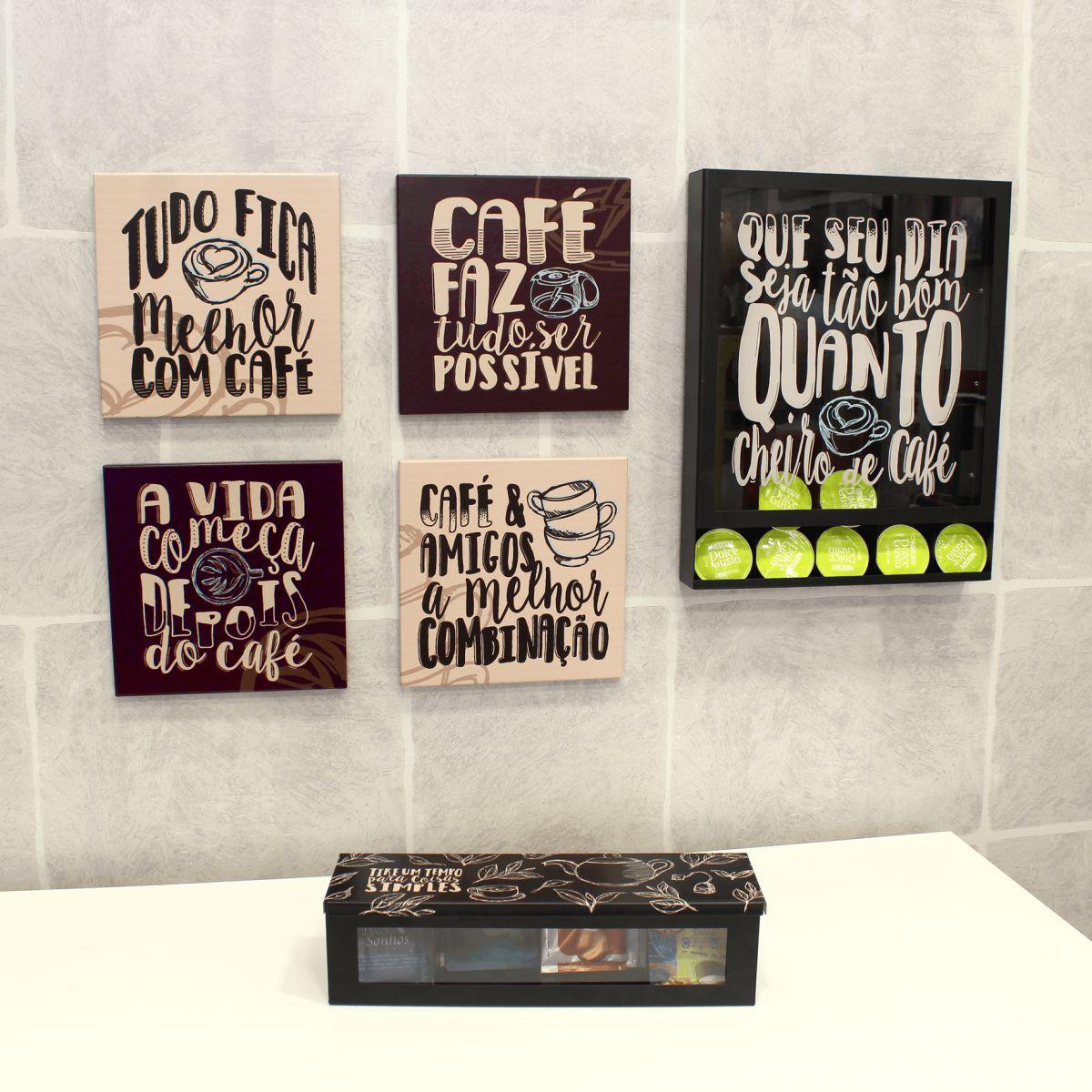 Porta Cápsulas Cheiro de Café Parede Modelo Universal