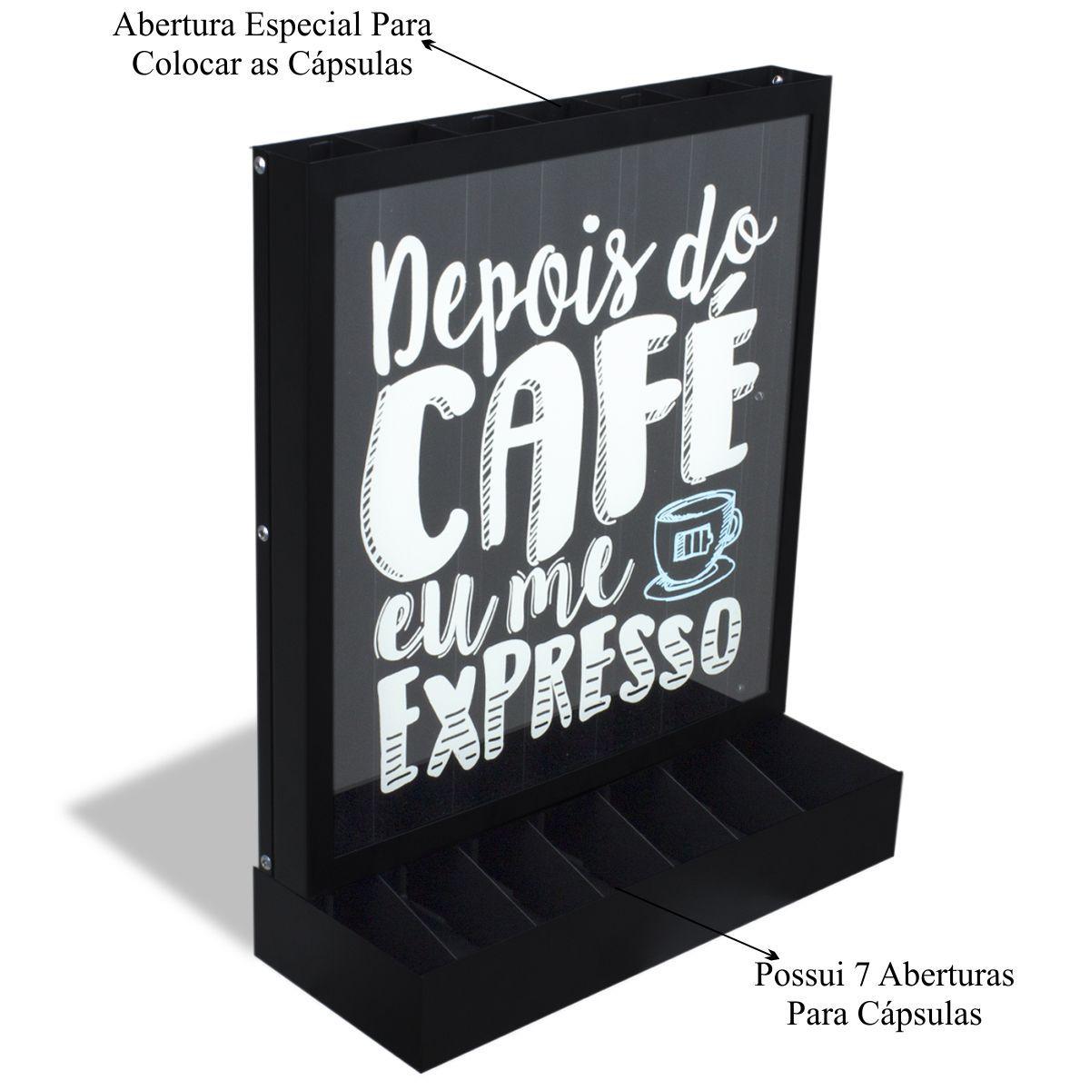 Porta Cápsulas de Café Compatível com Nespresso Bancada