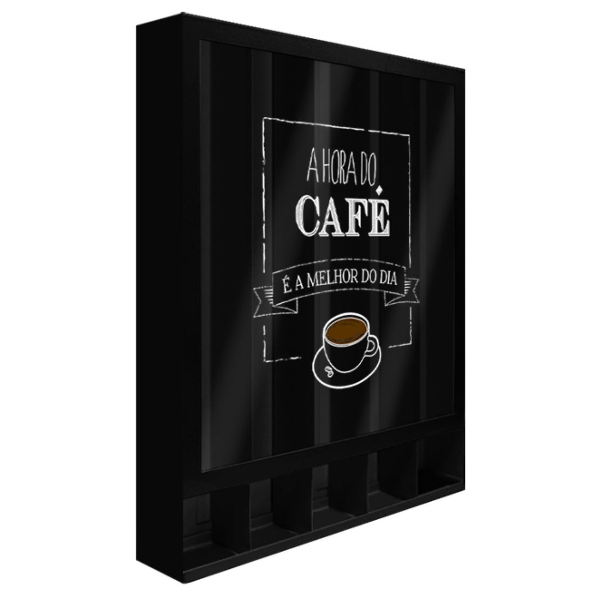 Porta Cápsulas Hora Do Café Modelo Universal de Parede
