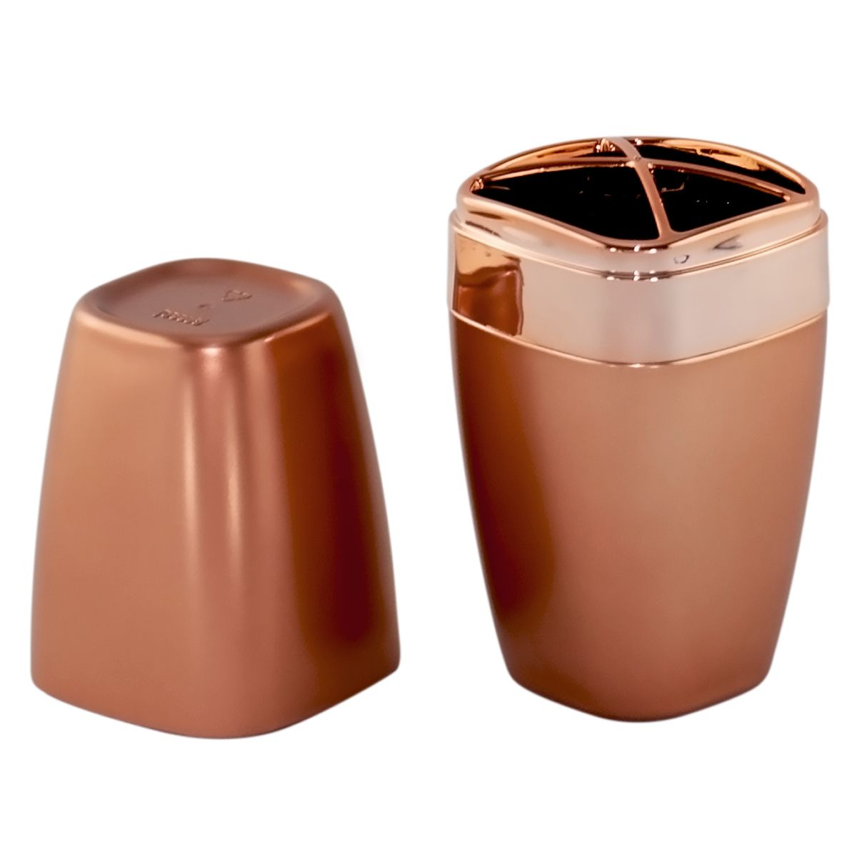 Porta Escova Creme Dental Cobre Rosé Gold Fosco