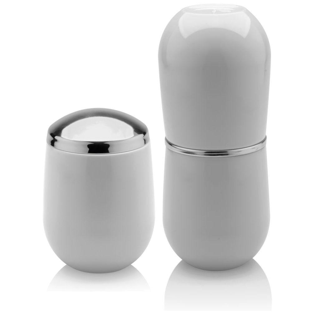 Porta Escova e Creme Dental + Porta Algodão - Branco