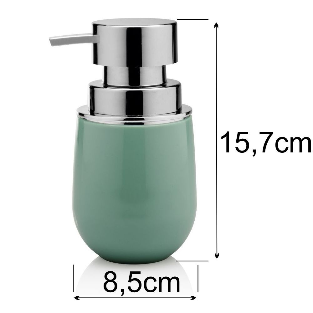 Porta Escova e Sabonete Líquido Com Lixeira 5 Litros - Verde