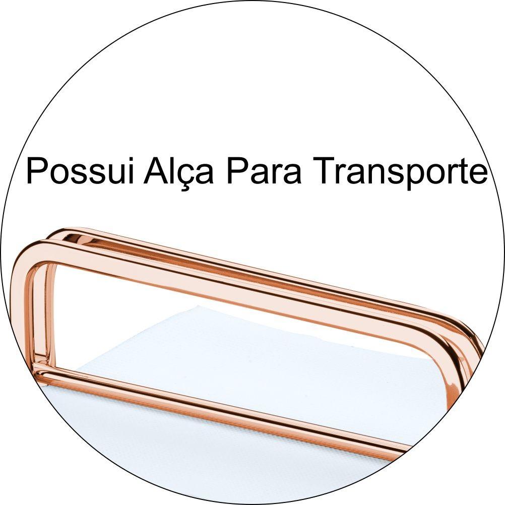 Porta Guardanapos Com Peso e Alça P/ Transporte - Cobre
