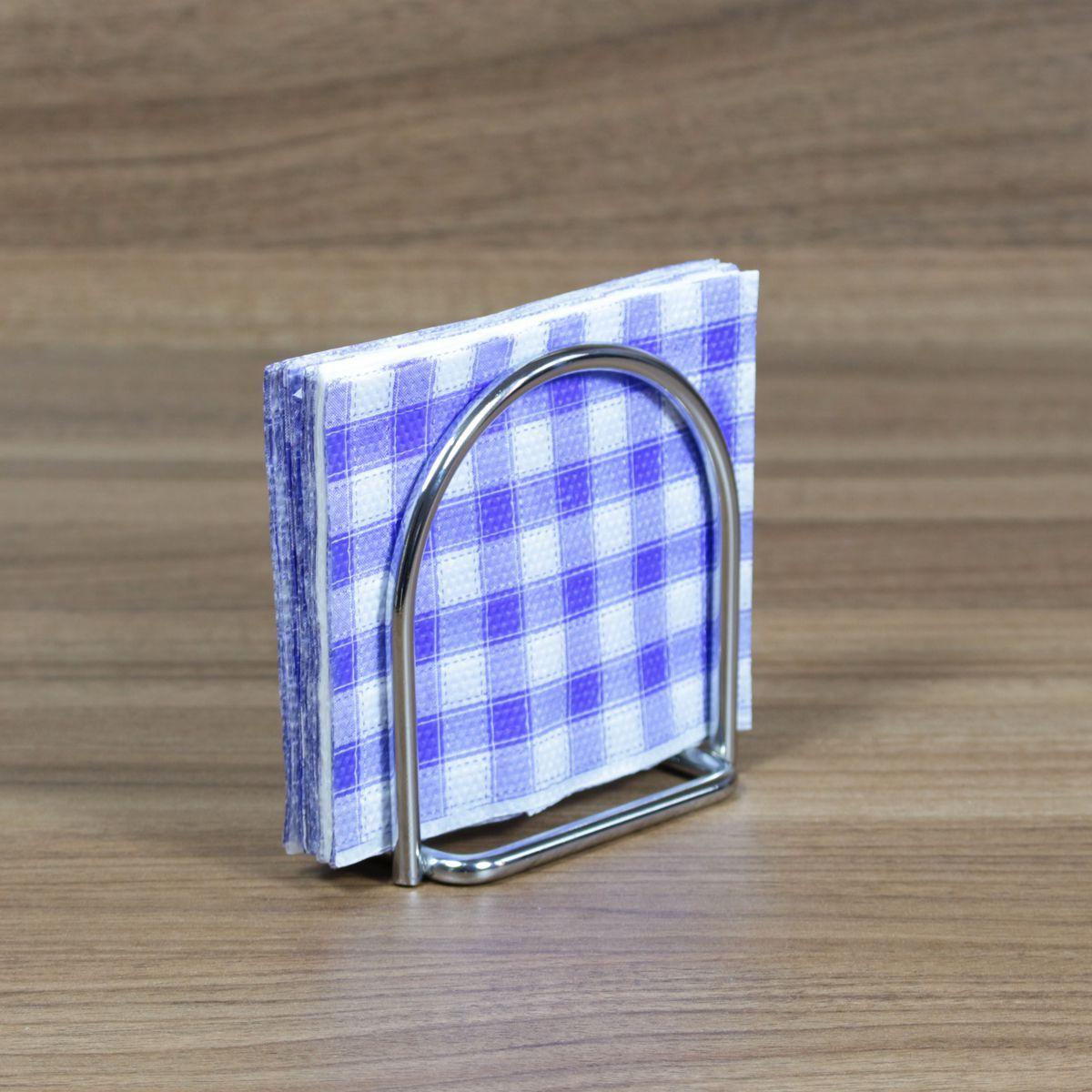 Porta Guardanapos de Mesa Pequeno Suporte Aço Cromado