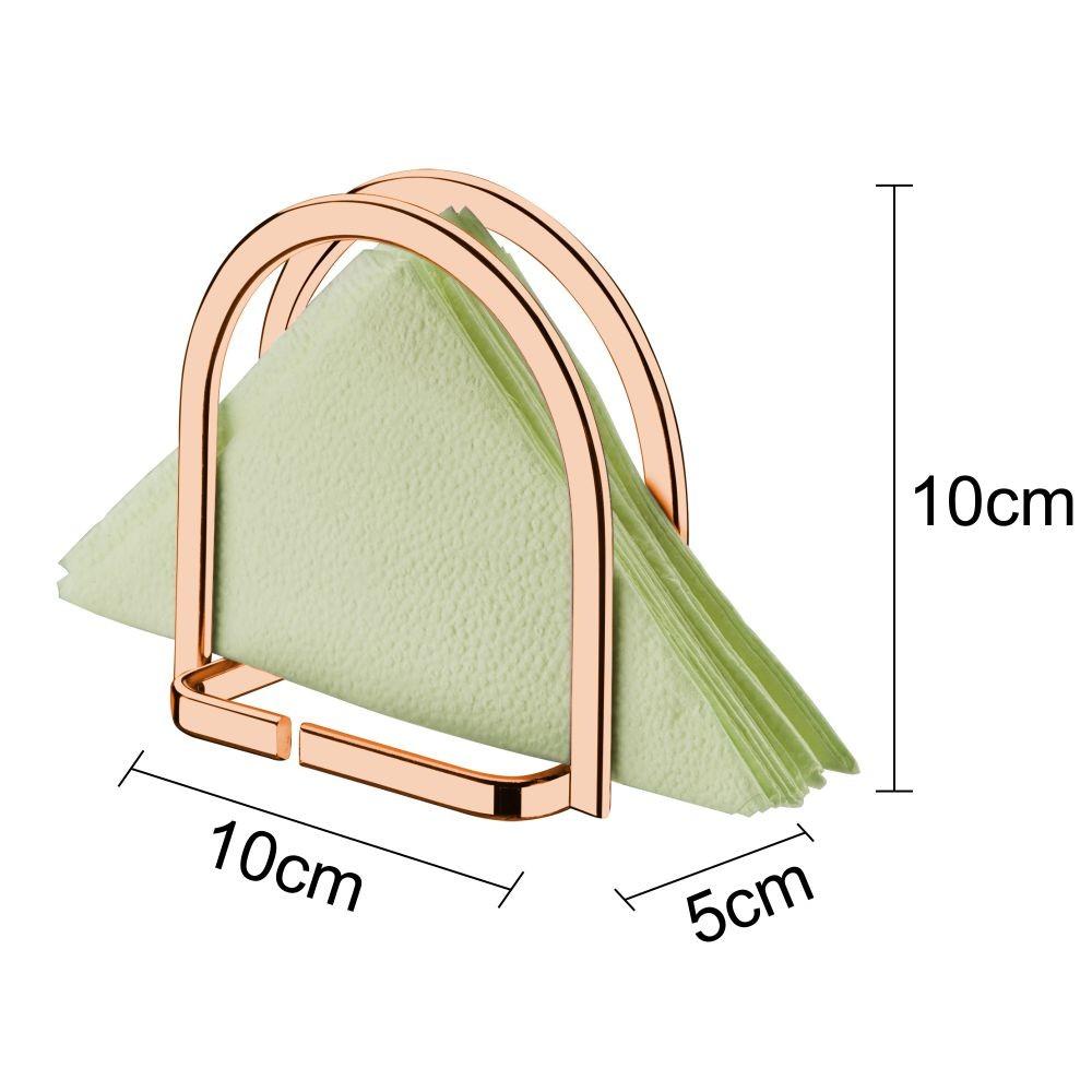Suporte Porta Guardanapos de Mesa Pequeno Cobre Rosé Gold