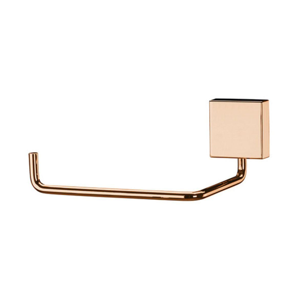 Porta Papel Higiênico Papeleira 1 Rolo - Rosé Gold