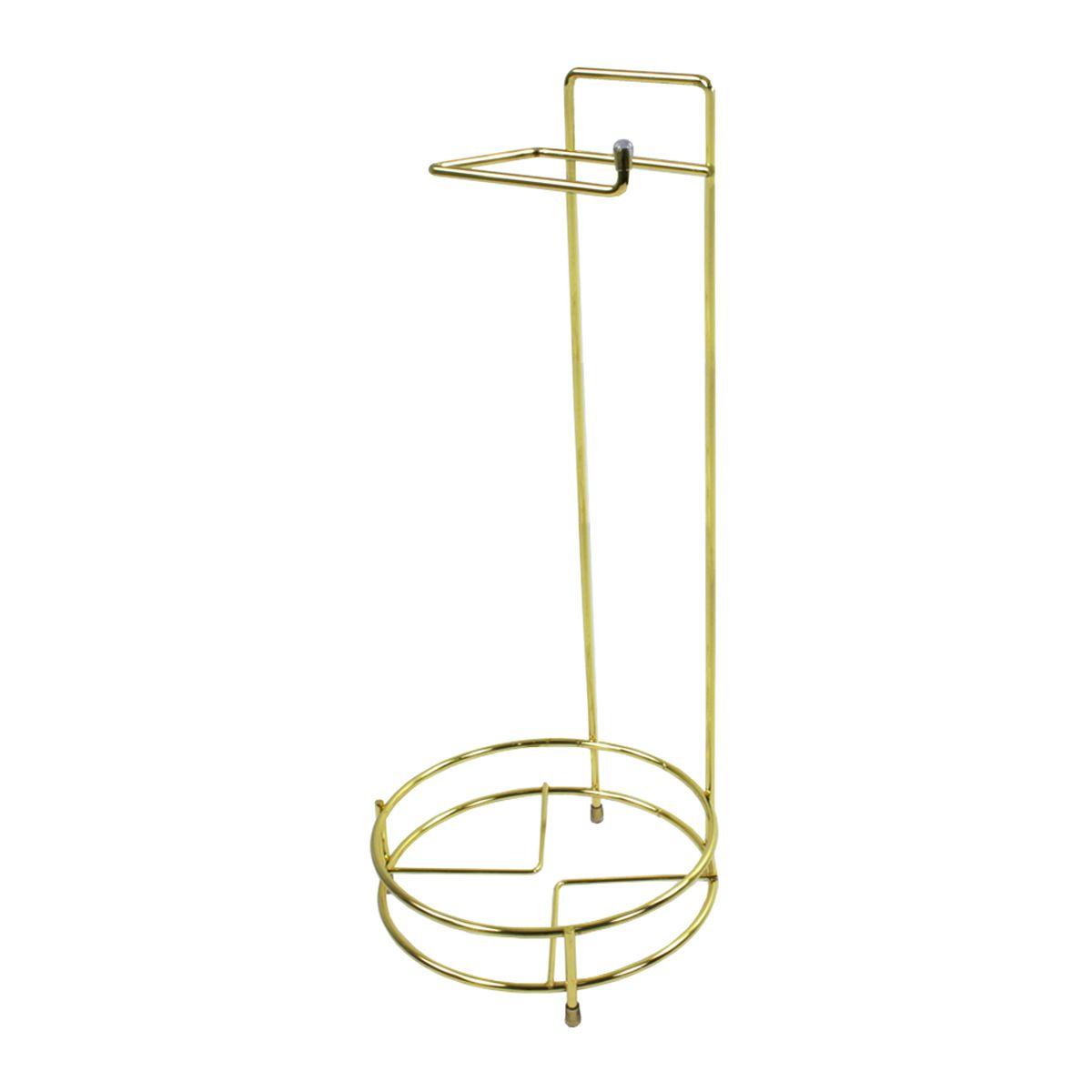 Porta Papel Higiênico Para Lixeiras Até 5 Litros Redonda Dourado