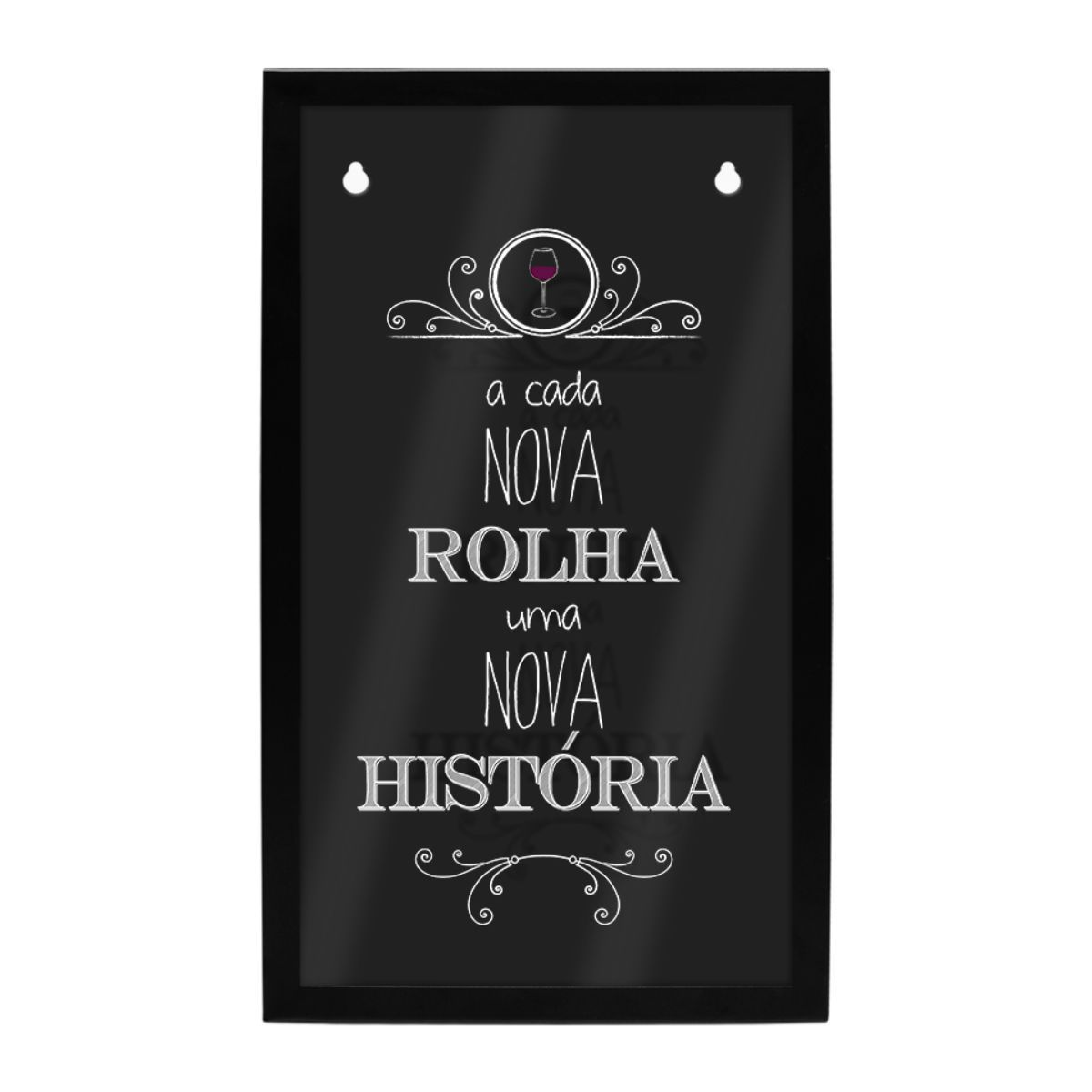 Quadro Porta Rolhas de Parede História Decoração Vinho