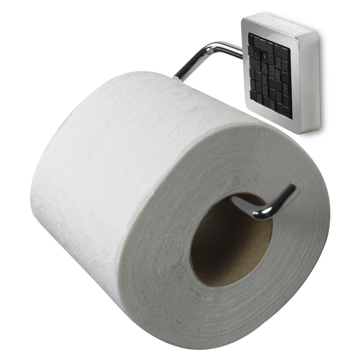 Porta Rolo de Papel Higiênico Parede Banheiro Luxo - Preto