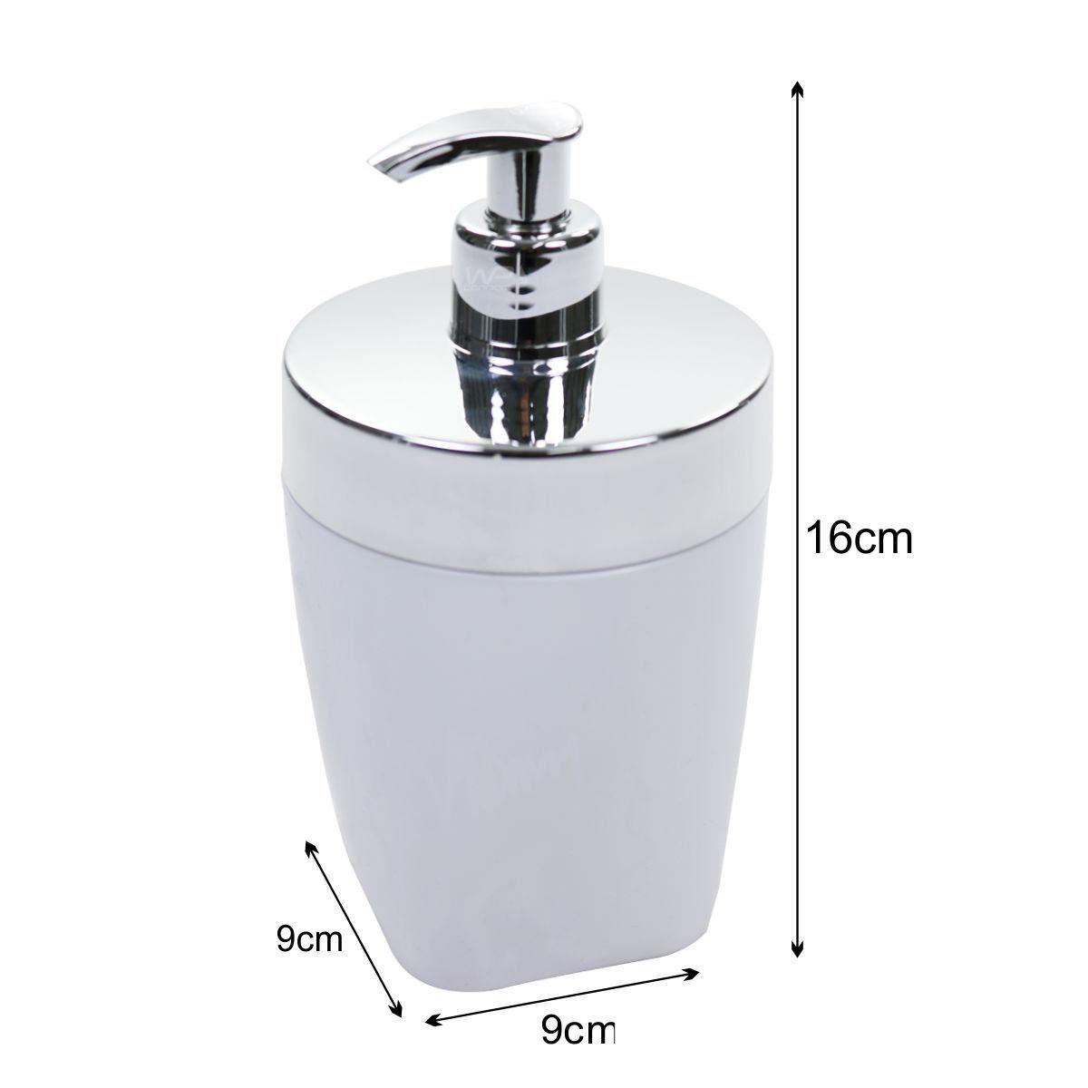 Porta Sabonete Líquido Dispenser 400ml Pia Banheiro - Branco