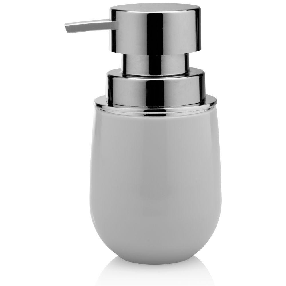 Porta Sabonete Líquido New Cromo Belly Branco