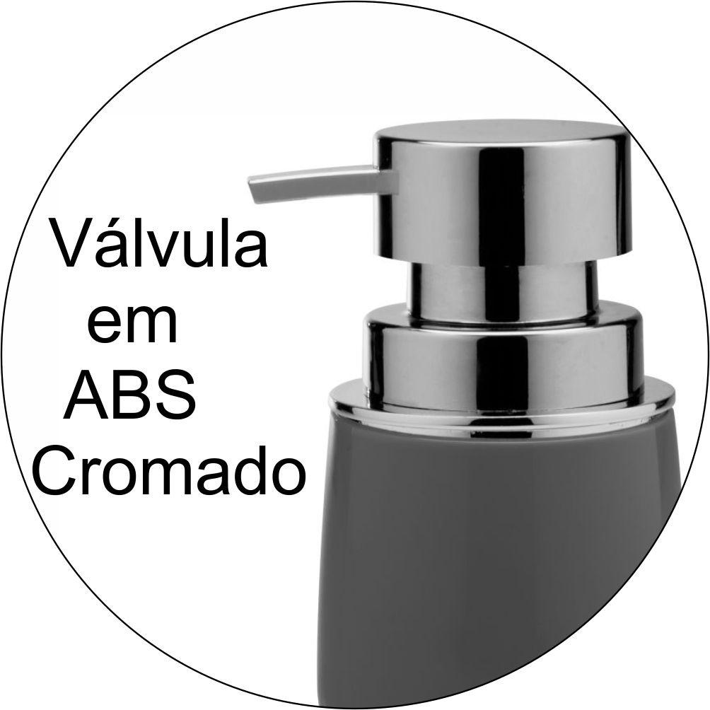 Porta Sabonete Líquido New Cromo Belly Chumbo