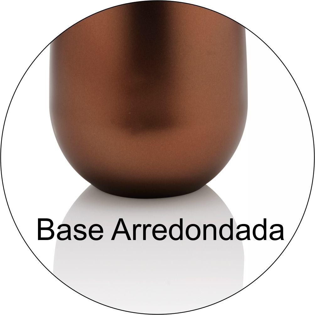 Porta Sabonete Líquido New Cromo Belly Marrom