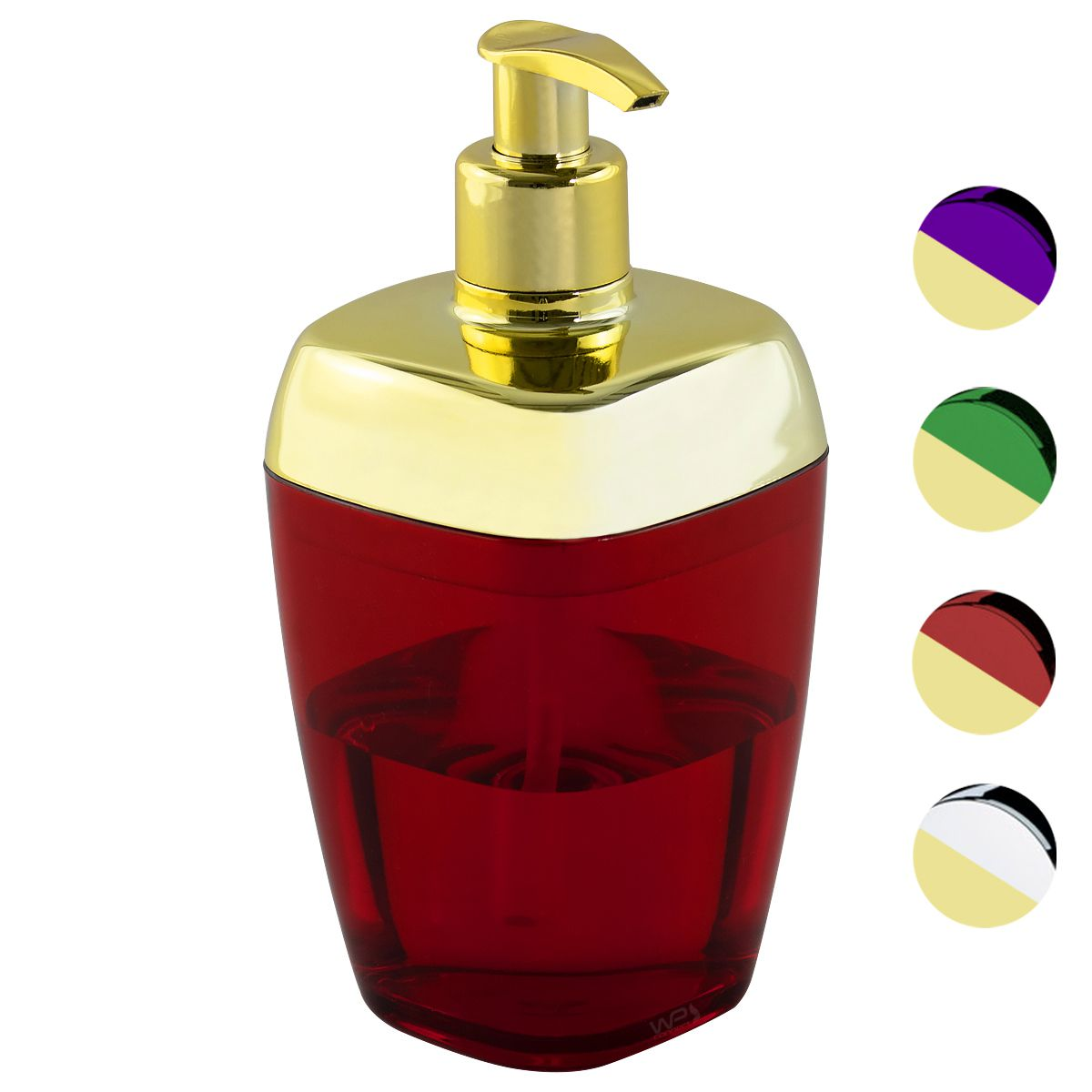 Porta Sabonete Líquido Translúcido Dourado Banheiro