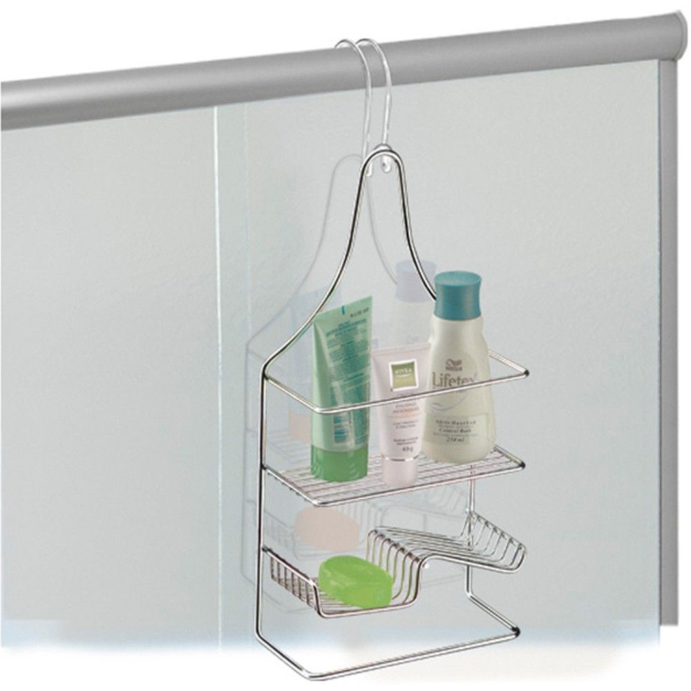 Porta Shampoo E Sabonete para Registro de Chuveiro - Aço Cromado