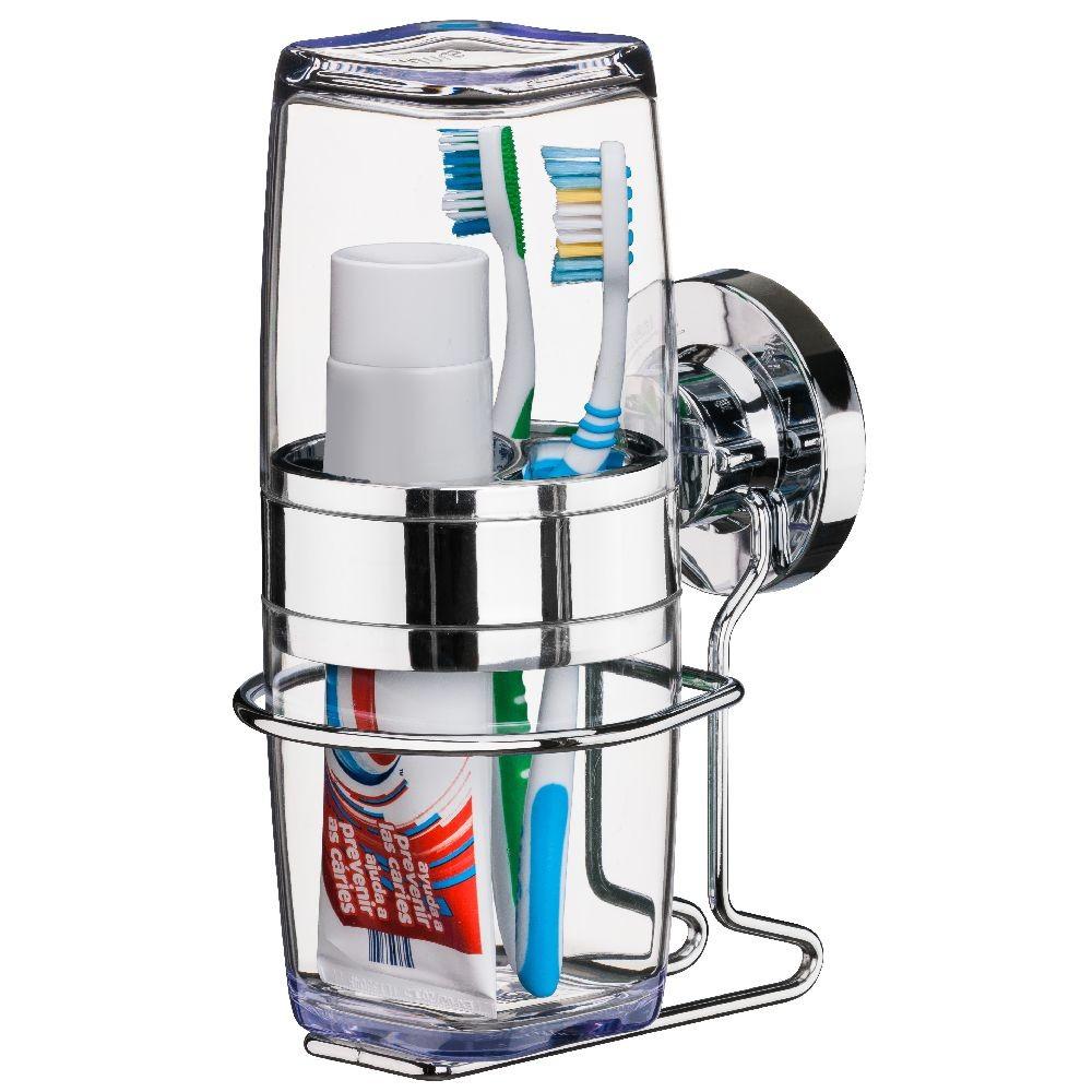 Porta Shampoo Sabonete + Porta Escova e reme Dental Ventosa