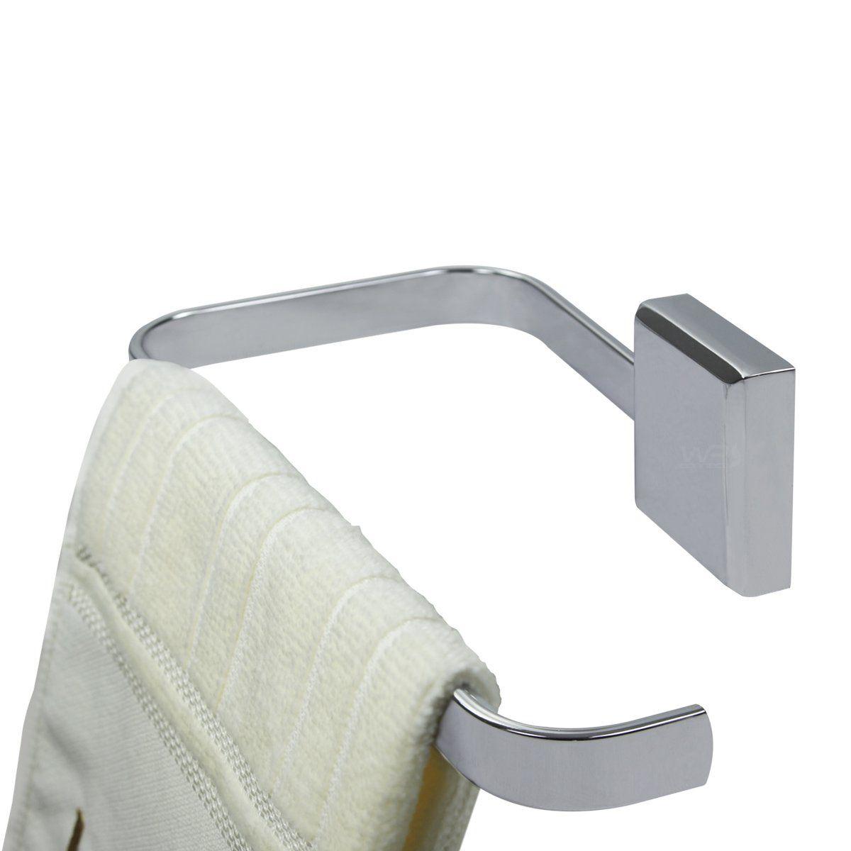 Porta Toalha de Rosto Mãos Toalheiro de Parede Banheiro Cromado