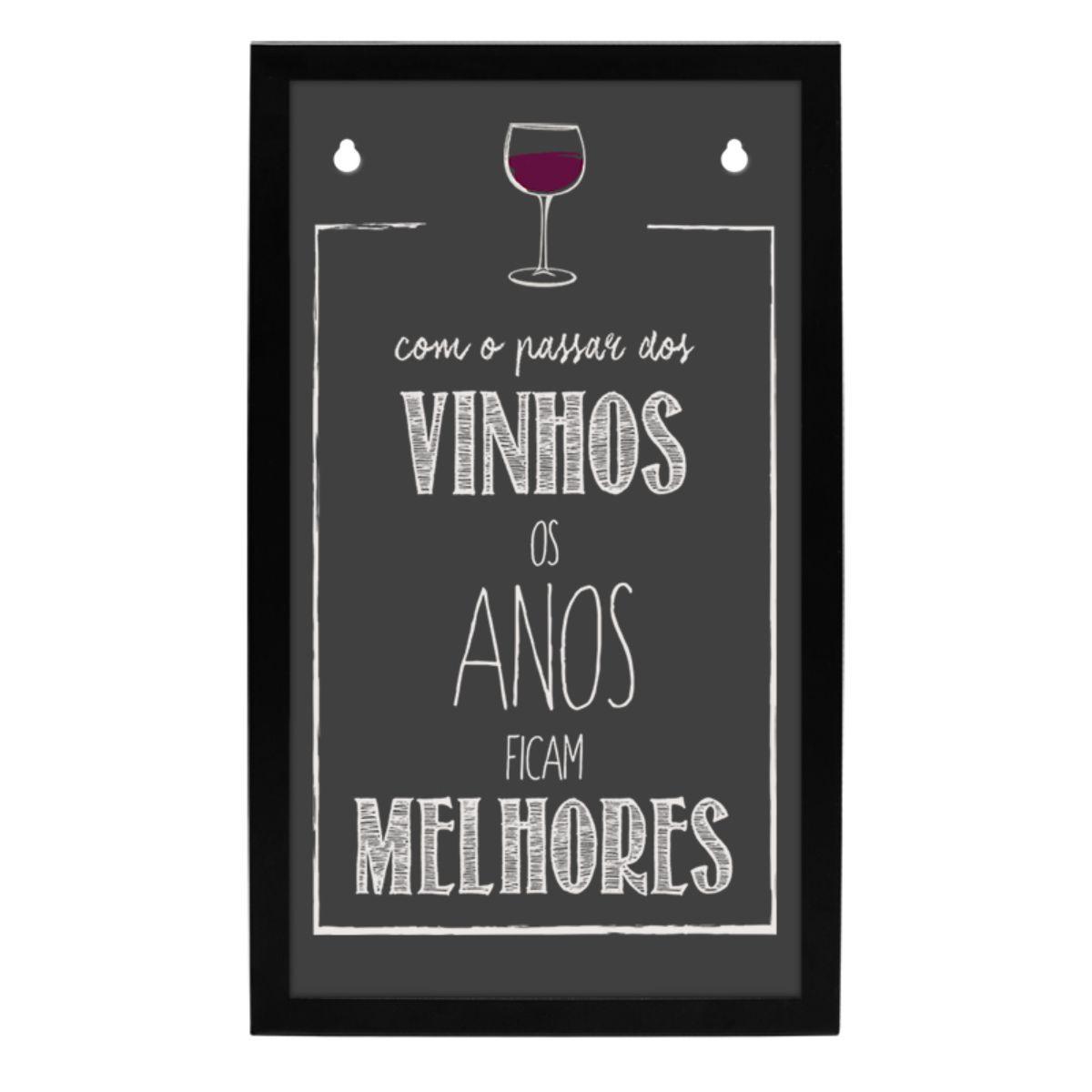 Quadro Porta Rolhas de Vinho Espumante de Parede Decoração