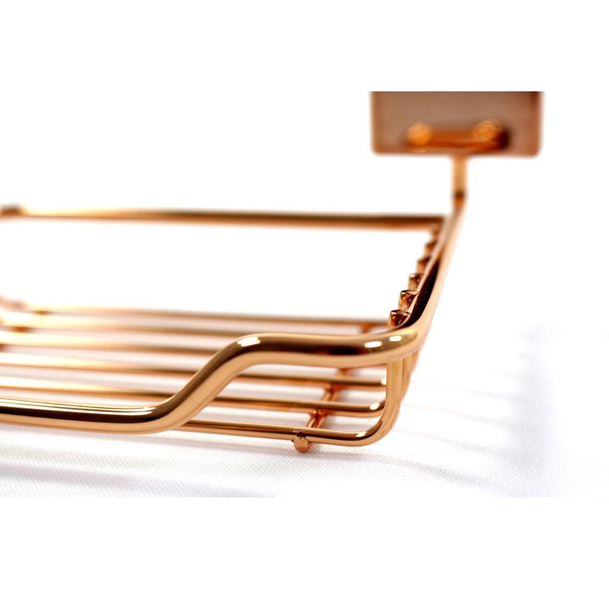 Saboneteira Cobre Rosé Gold Porta Sabonete Fixação Parafuso