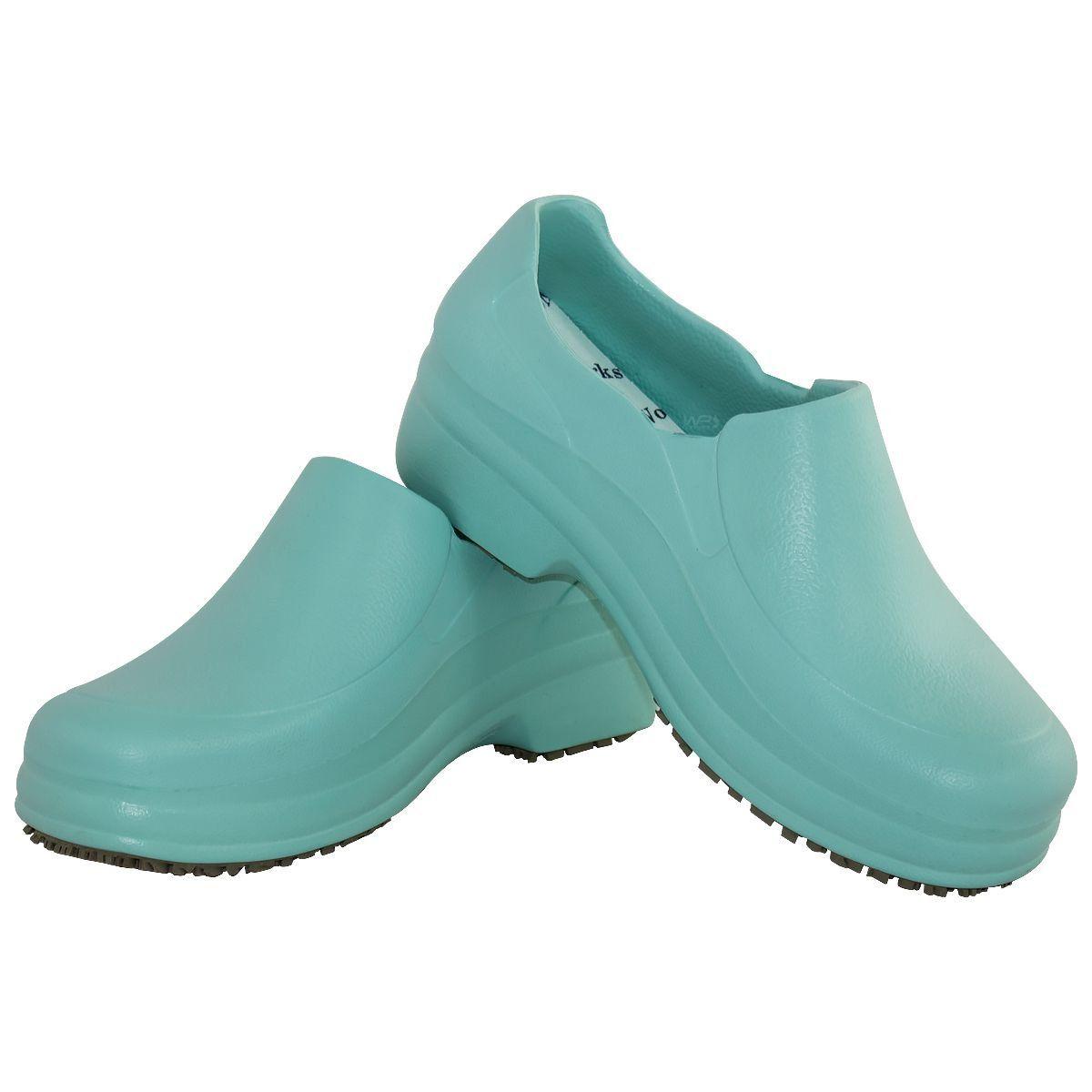 Sapato Profissional Antiderrapante Verde Medicina Enfermagem