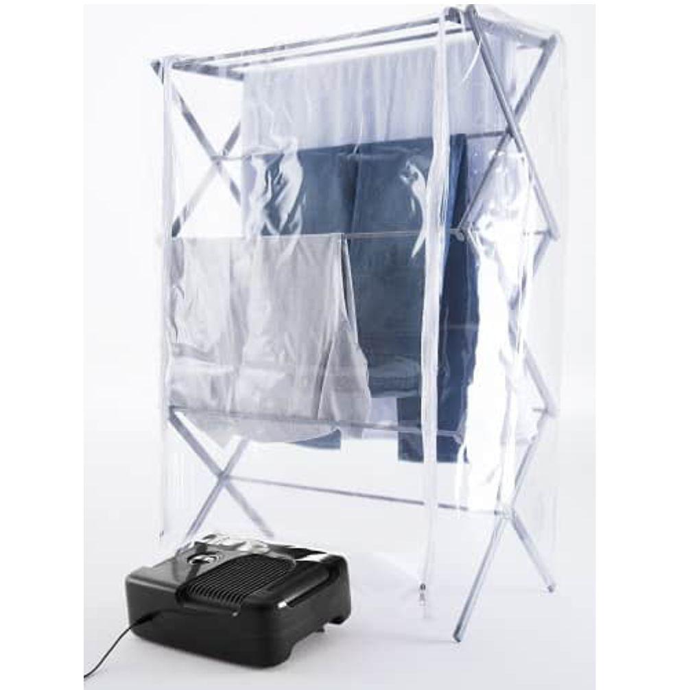 Secadora de Roupas Compacta e Portátil 3 em 1 - Preta