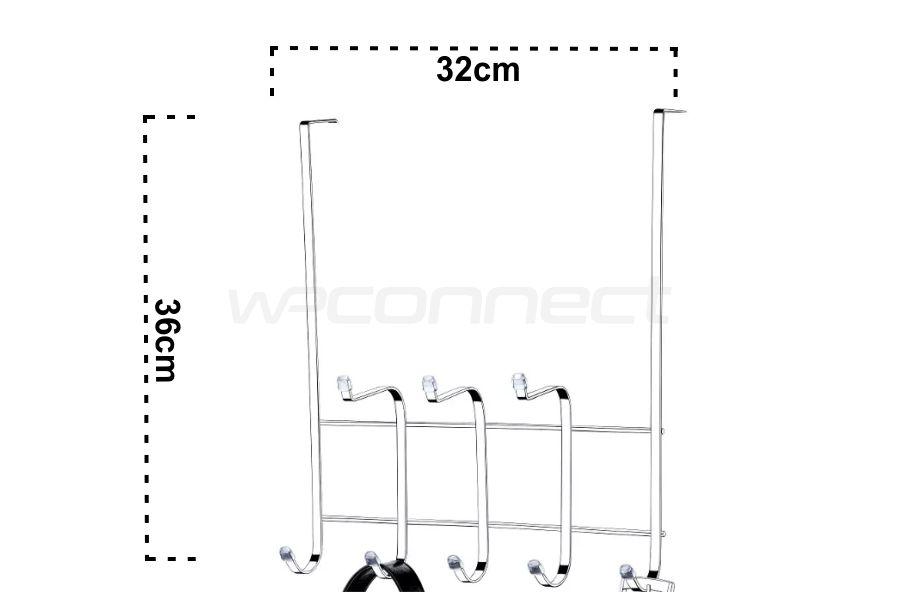 Suporte Multiuso Gancho Para Porta Ou Box - Aço Cromado
