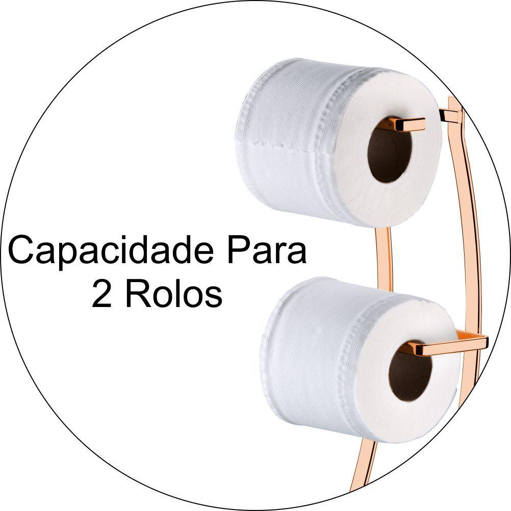Suporte Papeleira de Chão C/ Toalheiro de Bancada Pia Lavabo