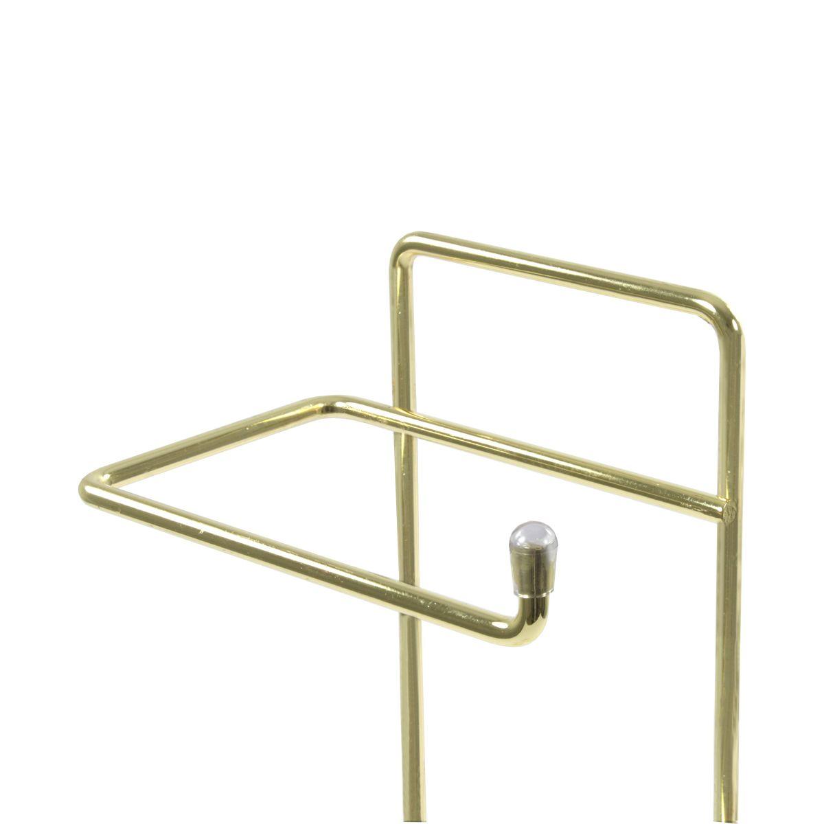 Suporte Para Papel Higiênico Lixeira Basculante 5 Litros - Dourado