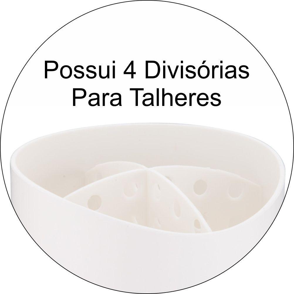 Suporte Para Utensílios/Talheres Cozinha Eleganza - Branco