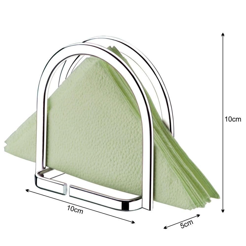 Suporte Porta Guardanapos Pequeno Vertical - Cromado