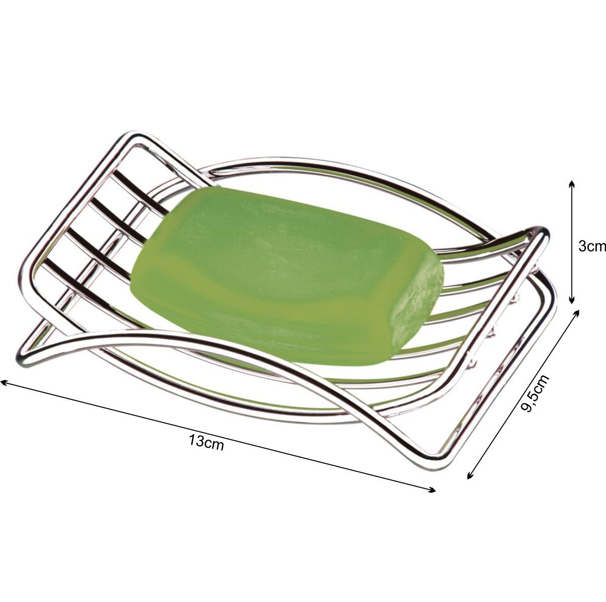 Suporte Porta Sabonete Saboneteira - Aço Cromado