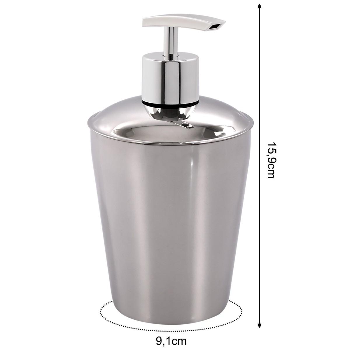 Suporte Sabonete Liquido Spa Aço Inox - Prata